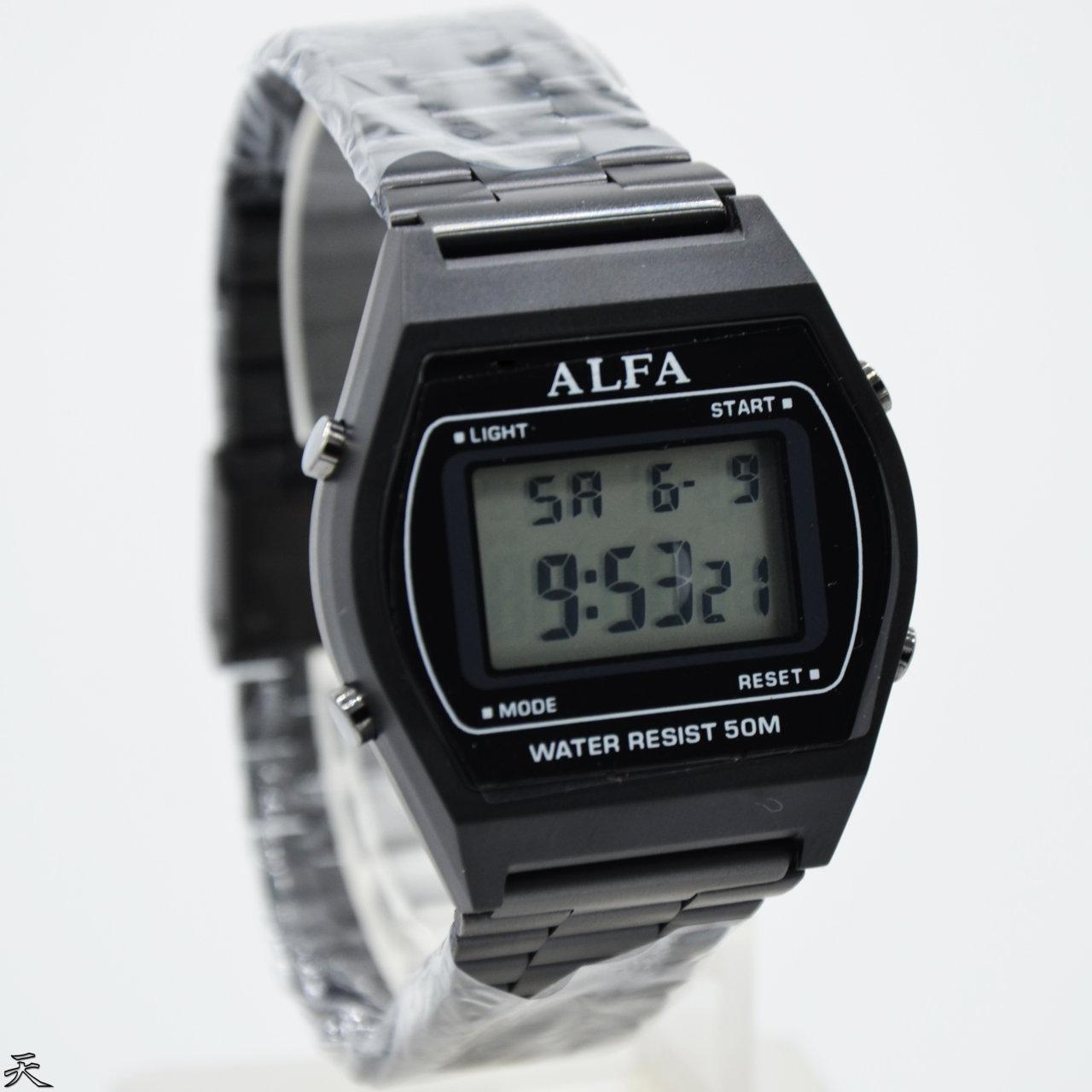 Alfa Digital Watch 8010 Jam Tangan Formal Wanita Murah - Anti Air - All Stainless - Original