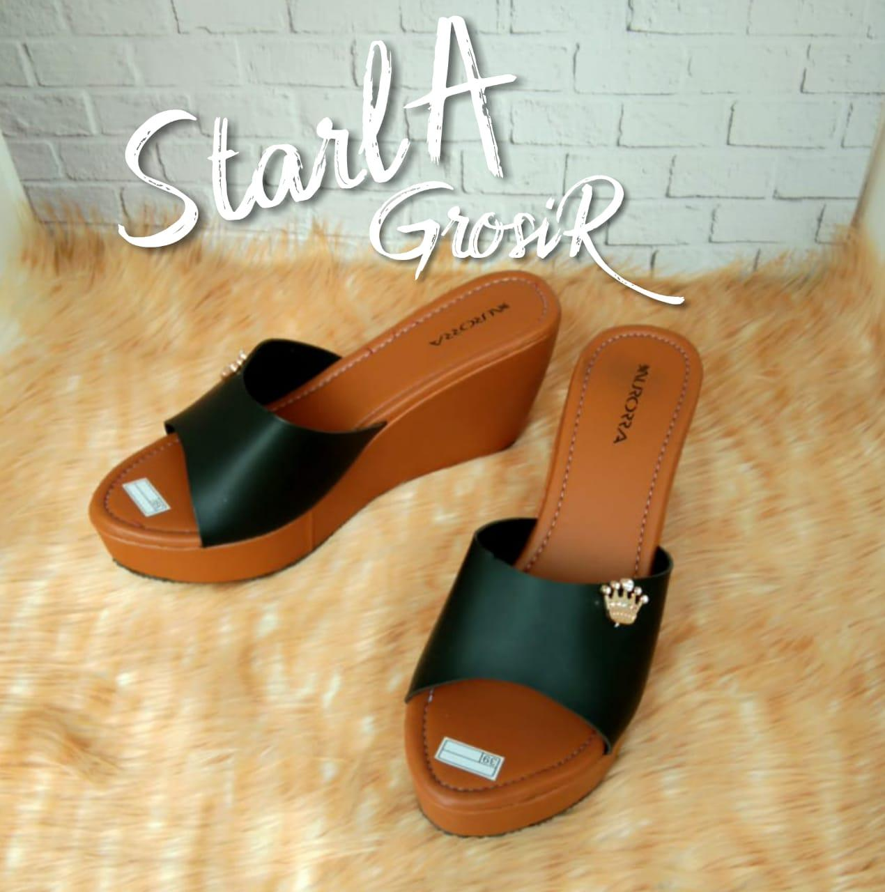 Starla Grosir - Sandal Wanita Wedges AS - 09