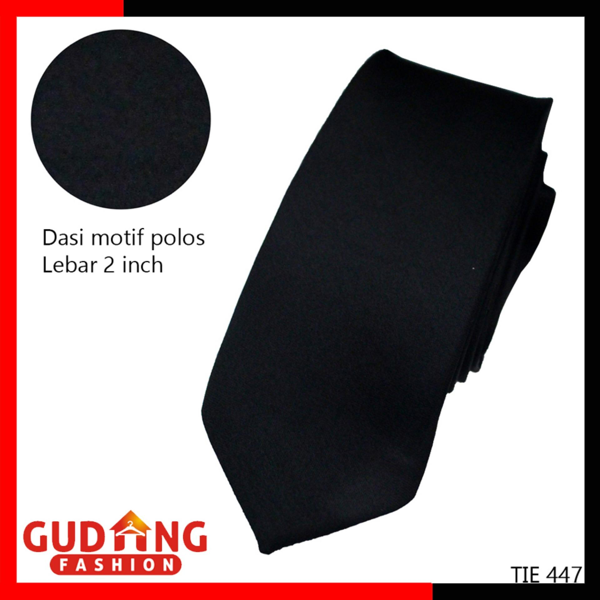 Gudang Fashion - Dasi Slimfit Polos 2 Inch - Hitam By Gudang Fashion.