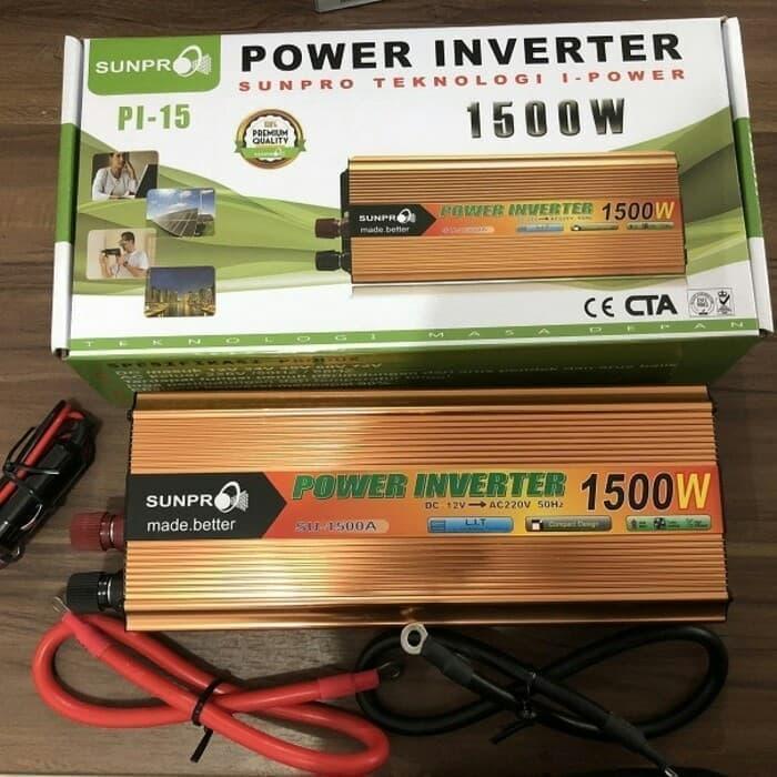 Bayar Di Tempat / Power Inverter 1500 Watt Sunpro/ Inverter Dc To AC 1500 W Merk Sunpro