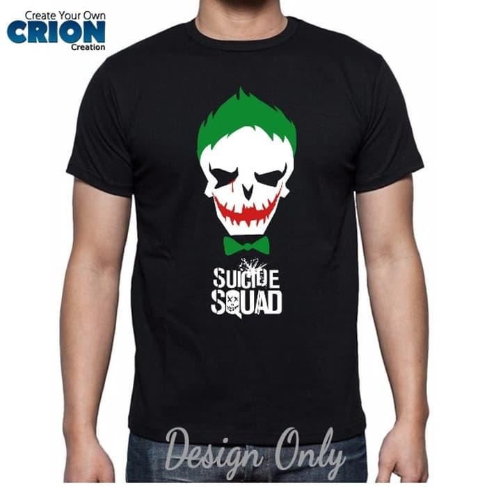Kaos Suicide Squad - Joker Face - By Crion - Putih, S - XGbfw5