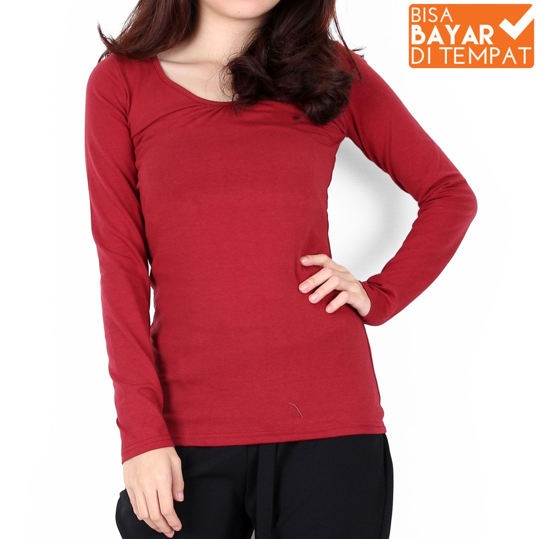 All Item 35K blouse casual blouse kerja blouse wanita baju kerja baju korea-Merah