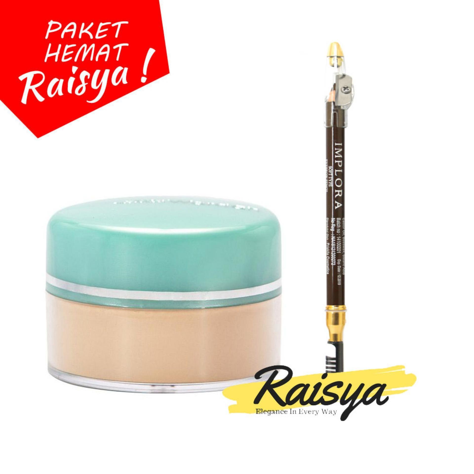Wardah Everyday Luminous Face Powder - Bedak Tabur - 02 Beige Free Implora Pensil Alis Coklat Resmi BPOM
