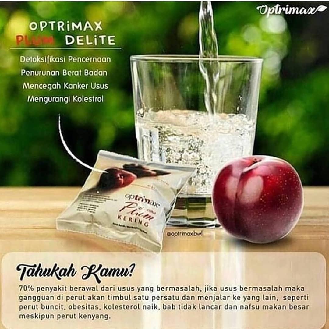 PROMO! Optrimax Plum Delite (10 pcs) Buah Plum Kering Pelangsing - Diet Detox Detoks - Obat Penguru