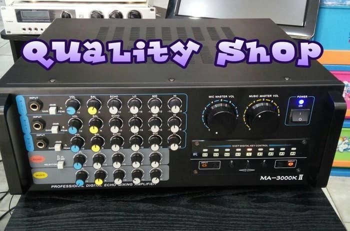 Original  POWER MIXER/AMPLIFIER MA-3000KII 600 watt murni