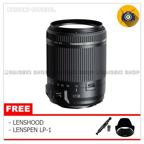 Tamron For Canon 18-200mm f/3.5-6.3 Di II VC (Free Lesnpen + Hood) - Original