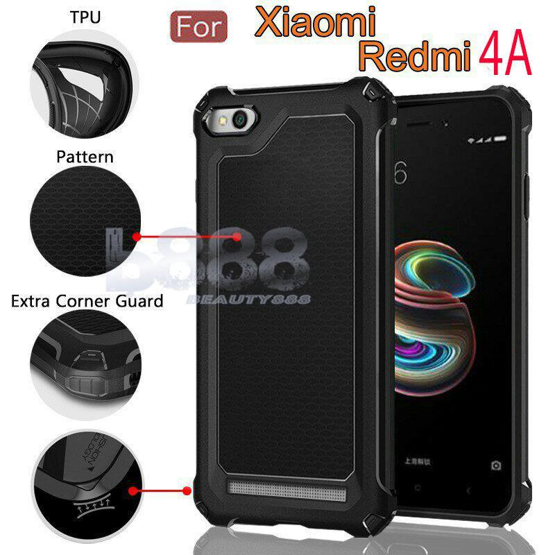 Case Rugged Ultra Capsule Xiaomi Redmi 4A Hybrid Armor TPU Shockproof Anti Slip Soft Back Case