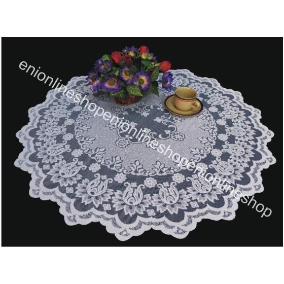 TAPLAK MEJA MAKAN TAMU BULAT TABLECLOTH ROUND 100 CM / 974 warna putih