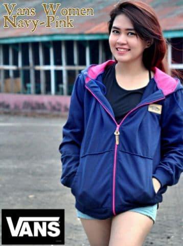 jaket vans navy pink sweater
