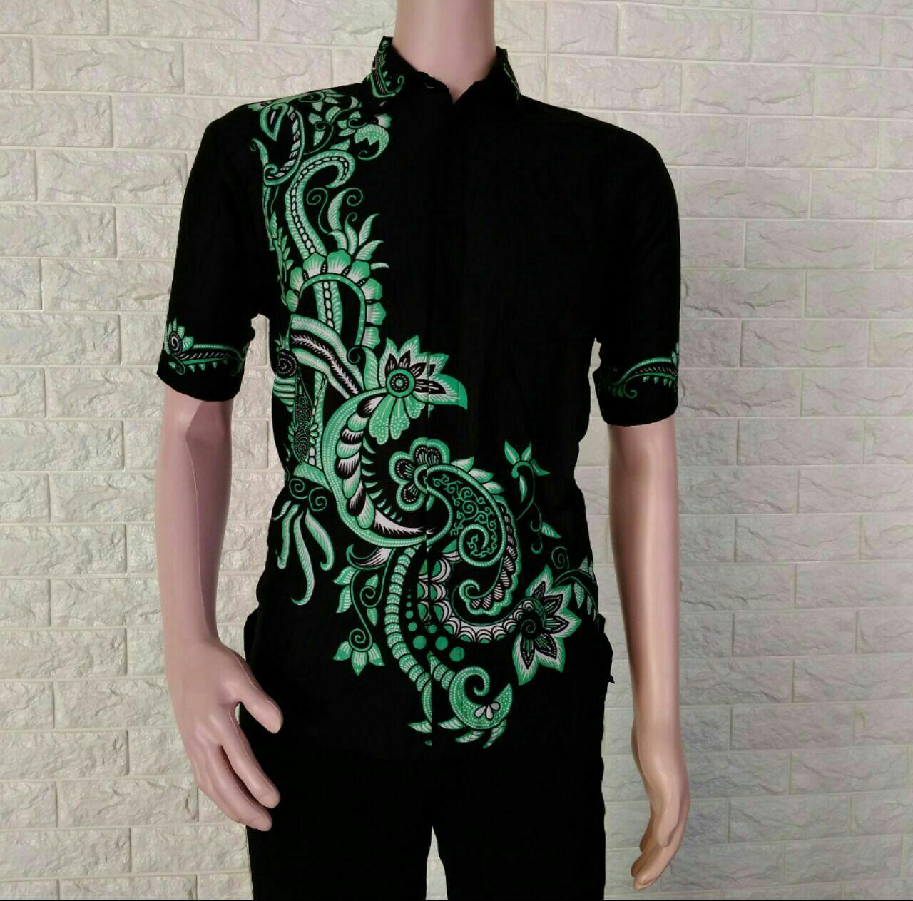 Jual Baju Batik Pria Baju Batik Modern Kemeja Batik Pekalongan Hem Batik Kemeja Motif Arjuna Hitam