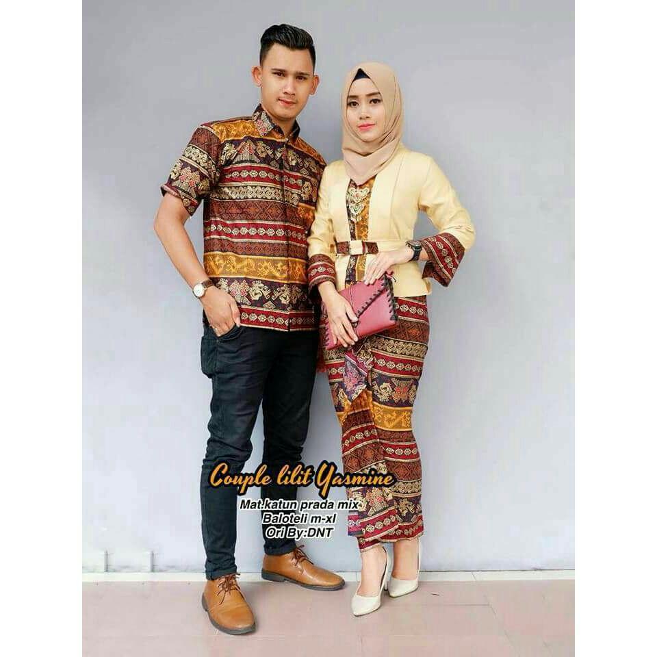 Baju Batik Couple / Baju Muslim Wanita Terbaru 2018 / Gamis Wanita Terbaru / Batik Sarimbit / Baju Batik Kondangan / Hem Batik / Batik Pekalongan / Batik Murah / Batik Couple Murah / Setelan Batik Couple
