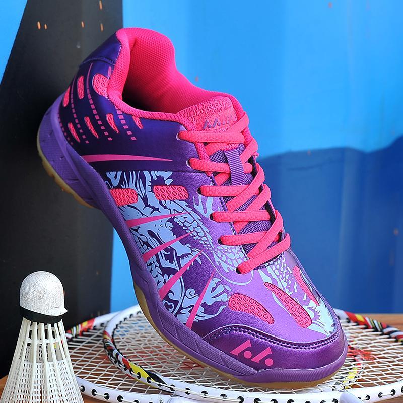 Yealon Sepatu Bulutangkis Wanita Pria Sneakers Wanita Sneakers Pelatihan Bernapas Anti-Slippery Ringan Sneakers Sepatu Sepatu Olahraga Wanita Sepatu sepatu Pria Sepatu