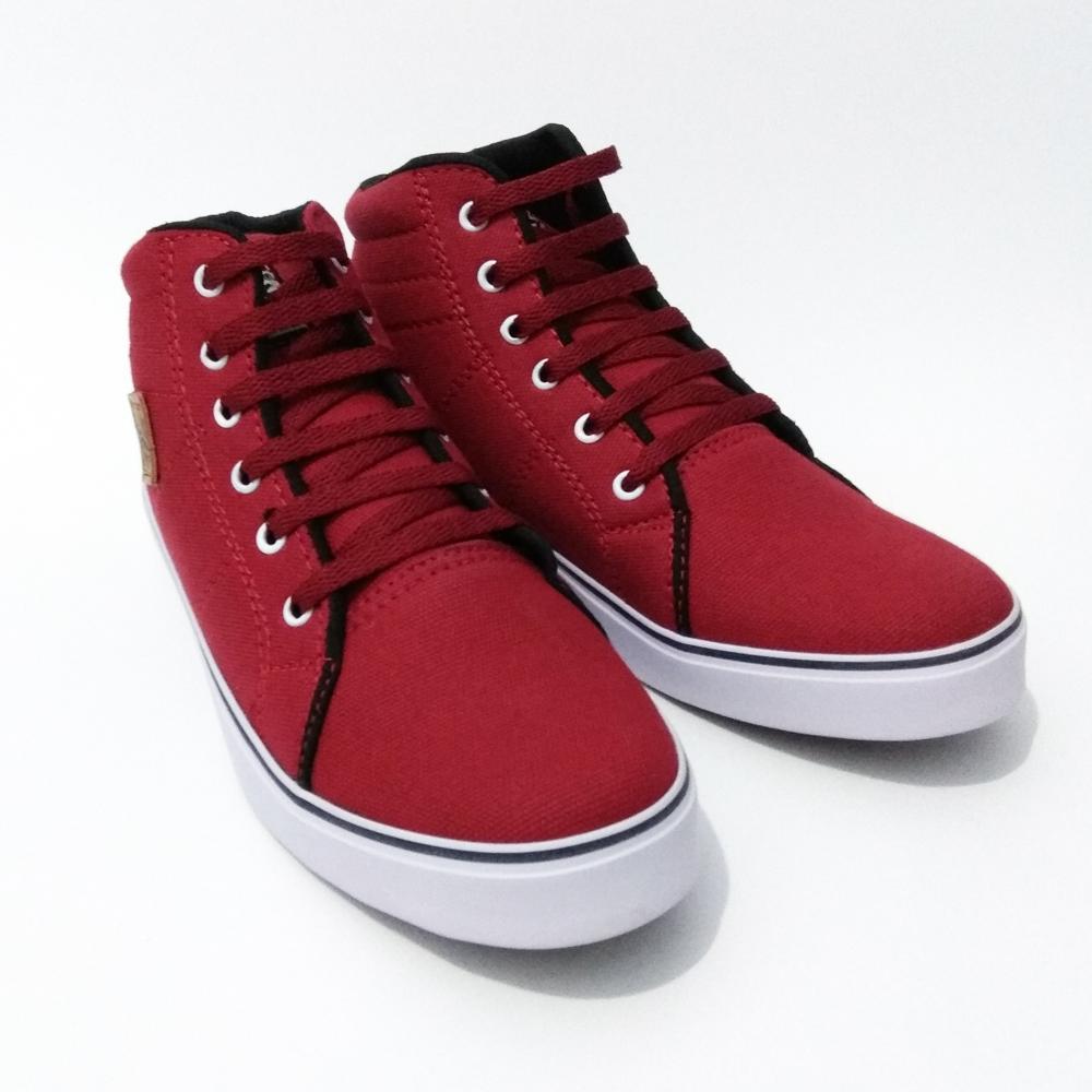 Just Cloth Sepatu Pria Wanita Sneakers Casual Vans Authentic Model Tinggi Unisex