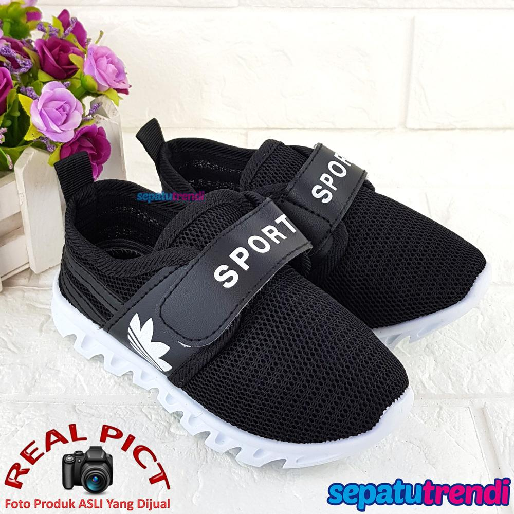 Sepatu Trendi Sepatu Anak Laki Laki Sport Import DSSPORT Sepatu Sekolah Anak  Laki Hitam 8aa1e87af5