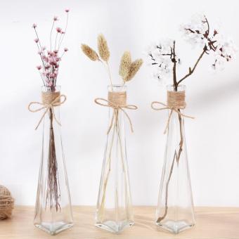 Price Checker Kreatif gelas transparan Vas bunga HYUNDAI minimalis ruang tamu Sisipan bunga dekorasi bunga segar