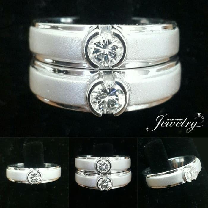 Wedding Ring Cincin Kawin BERLIAN Natural Diamond Ring Emas&Palladium