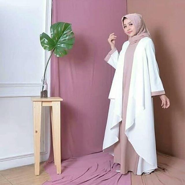 Azkia dres (putih-mocca) rvm