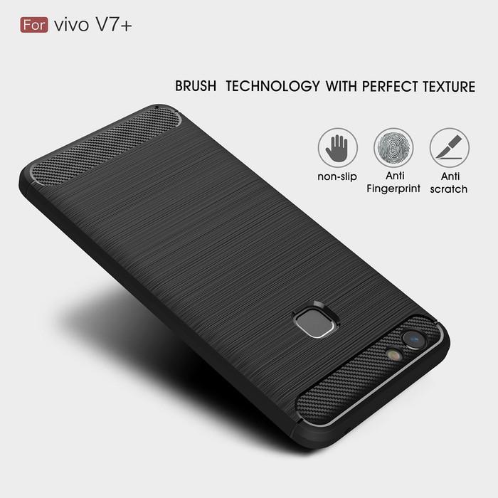 SoftShell Carbon Fiber Vivo V7+ V7 Plus Case soft
