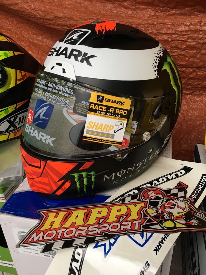 Helm Shark Race R Pro Lorenzo Monster Matt 2017 size M