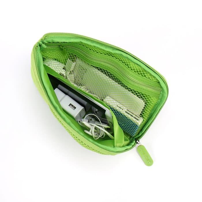 Pouch Gadget Dompet Hp Travel Organizer Power bank Charger & Cable M23