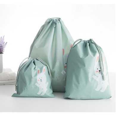 Bag in Bag Tas Serut Organizer Drawstring Bag Waterproof 3PCS Serbaguna Tas Kosmetik Travel Korea Tempat