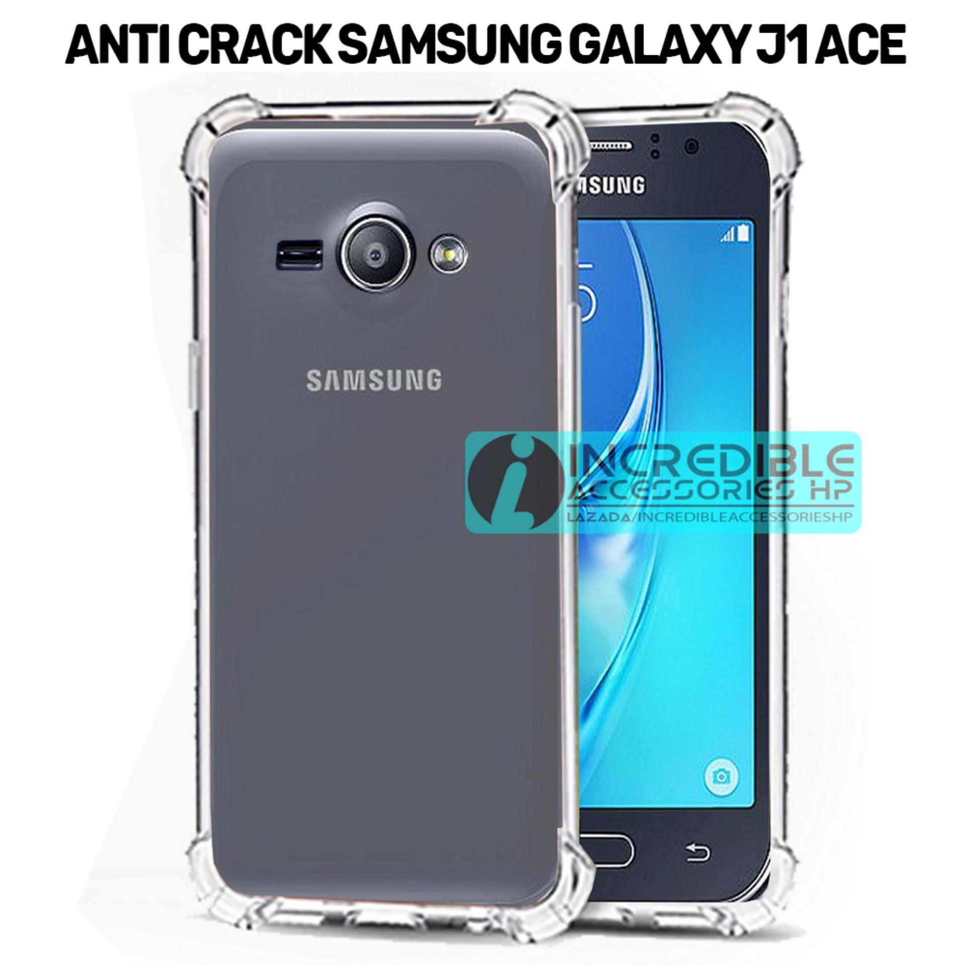 Case Anti Shock / Anti Crack Elegant Softcase  for Samsung Galaxy J1 Ace - White Clear