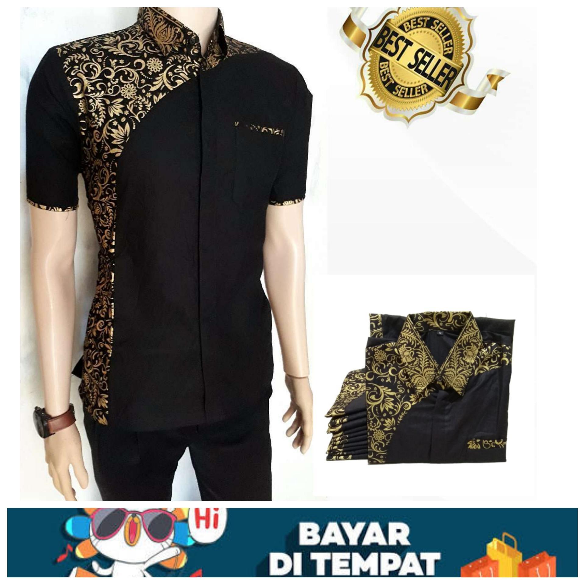 BATIK PRIA PEKALONGAN Kemeja Batik Eksklusif Baju Modern Kombinasi
