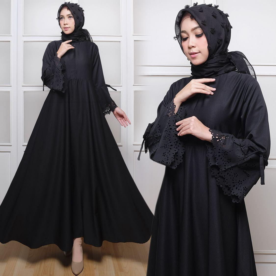 Baby Talk Club Gamis Polos Gamis Syari Baloteli Laser Busui Gaun Pesta Panjang Baju Hijab Terusan Pengajian Wanita Muslimah Dress Lengan Panjang Long Dress Casual Wanita - Dress Gamis Lebaran