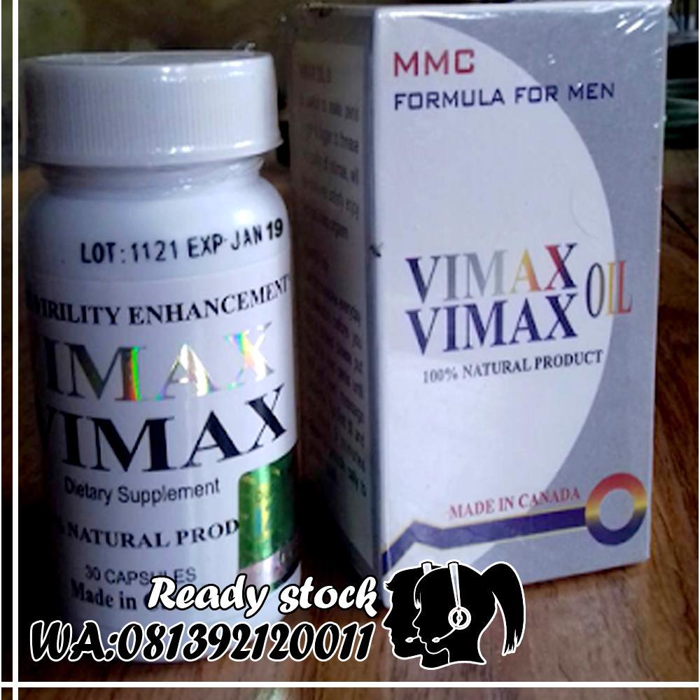 PAKET PROMO Obat Herbal Pembesar-P-enis-Vima-x-Capsule+Vima-x-oil-Original-Asli-Canada