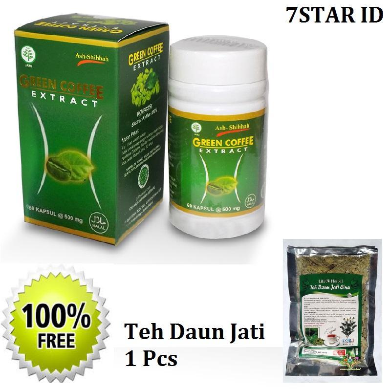Original Kapsul Pelangsing & Menekan Rasa Lapar Green Coffee 7STAR 100% Ampuh - 60 Capsul + Gratis