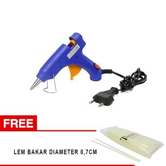 Beli sekarang OHOME COMBO Alat Lem Tembak + Lem Bakar Tozhca Glue Gun COMBO-MS-ABC-E20W_TZ-30-07 Biru buy now - Hanya Rp85.900