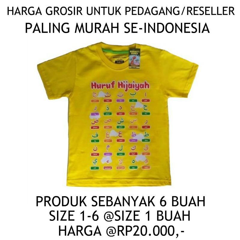 Kaos Anak Mommy's Honey Paket Pedagang/Reseller - Serian Kuning Hijau Size 1 - 6