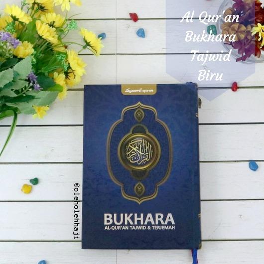 Al Quran Bukhara Tajwid dan Terjemahan Ukuran Sedang Hard Cover - Biru