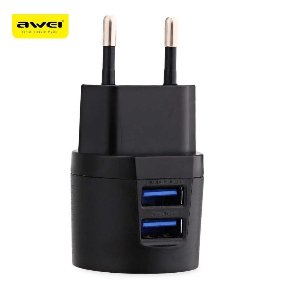 AWEI USB Travel Charger 2 Port 2.1A EU Plug - C-900 HP Termurah
