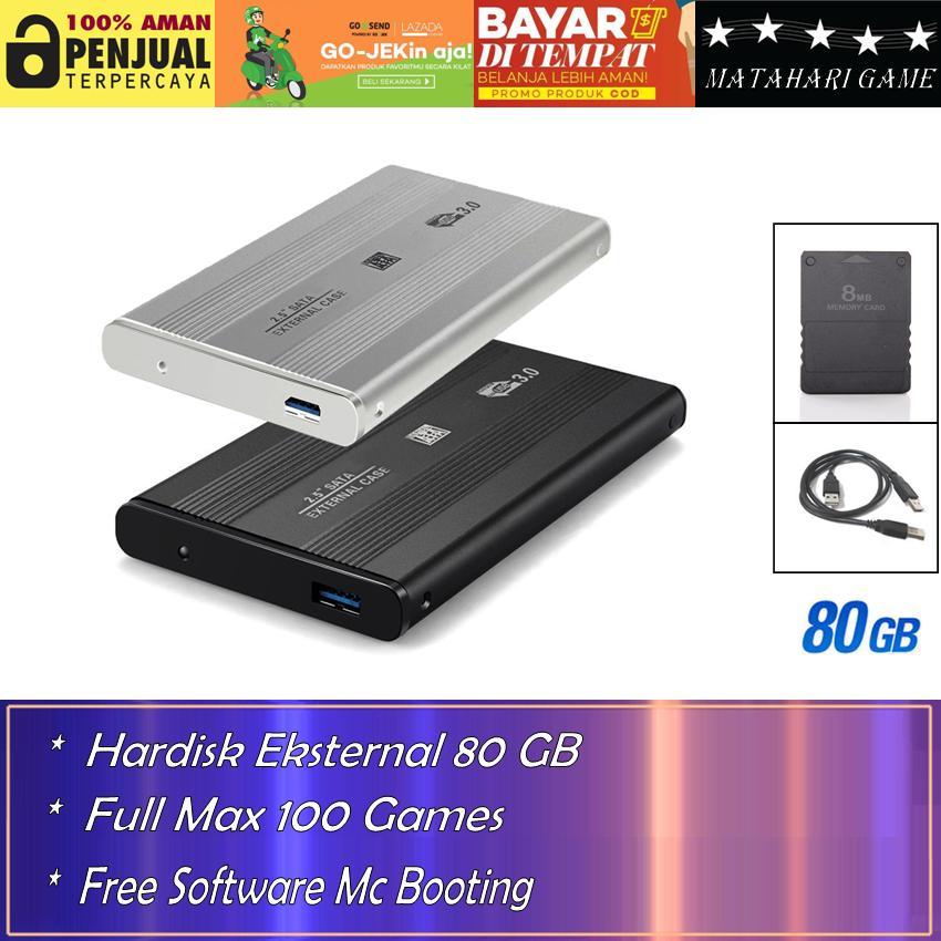 Hardisk Eksternal PS2 80GB - Support Semua FAT Series Playstation 2 - Best Quality