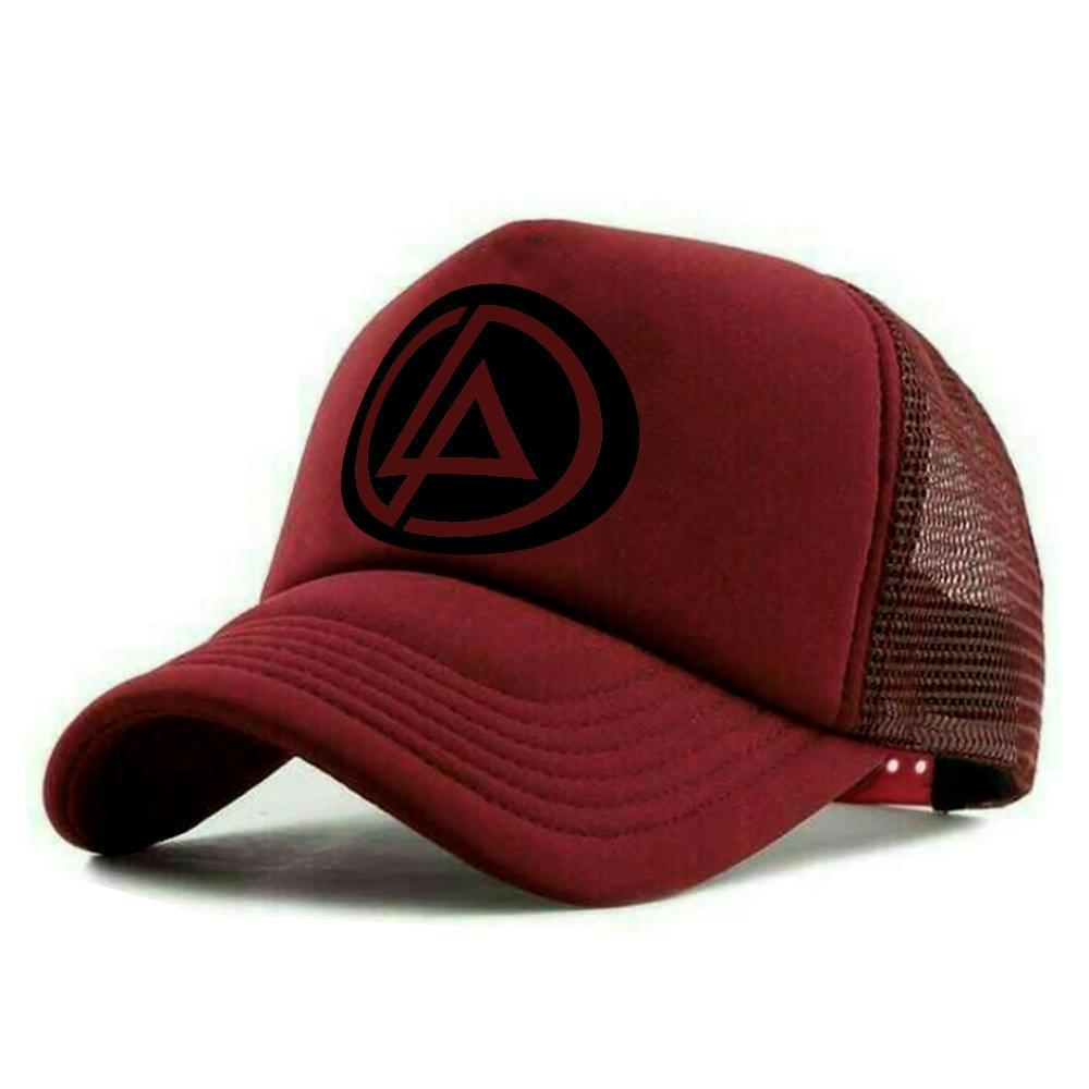 Topi Distro LINKIN PARK Trucker Exclusive Maroon Premium 2diclothing