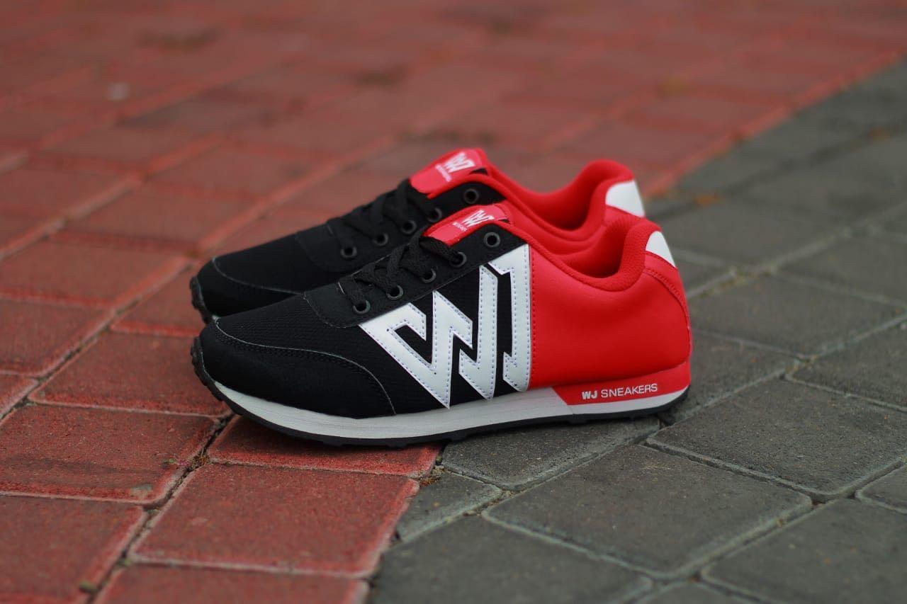 Sepatu Sport Pria WJ Sneakers Zero One Olahraga Lari Running Pria Laki Cowok  Merah Hitam Keren 81e7dbe585