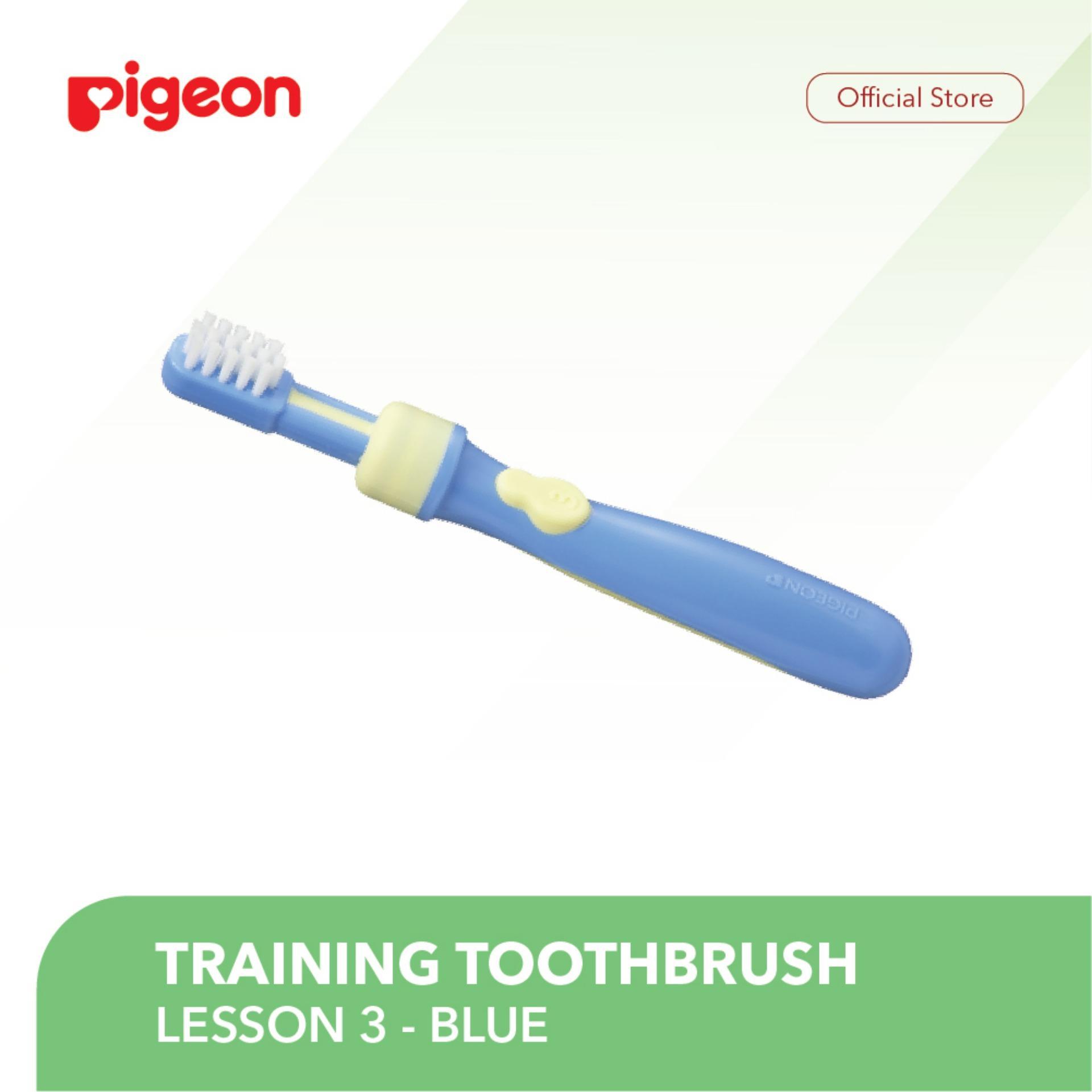 Babamu Electric Massage Toothbrush 3 In 1 Sikat Gigi Elektrik Dengan Kepala Pigeon Training Lesson Blue Bayi