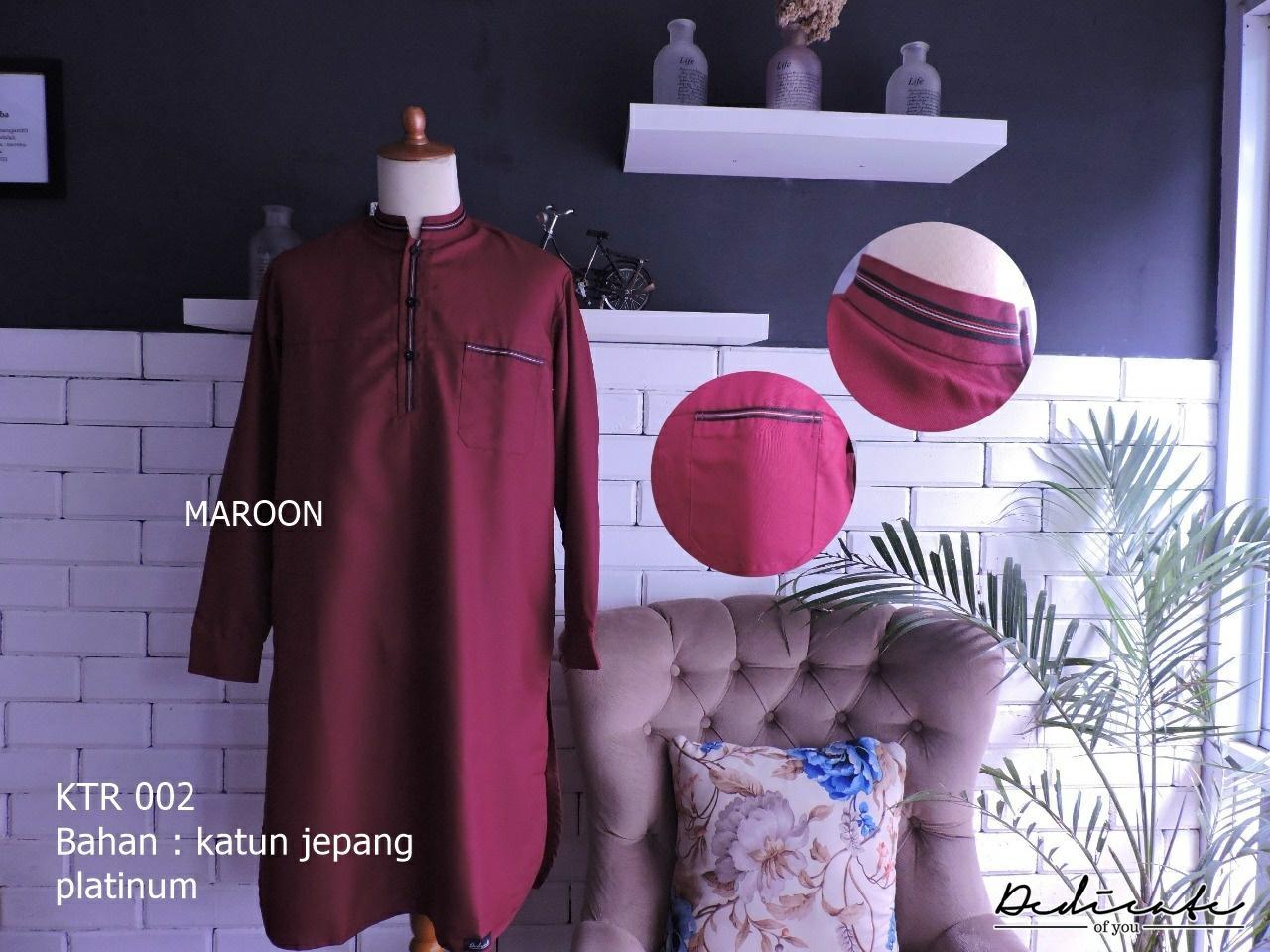 gamis turki ikhwan ORIGINAL kualitas terbaik - Maroon, XXL