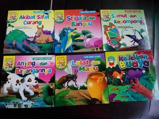 paket cerita Anak bilingual kisah fabel 7