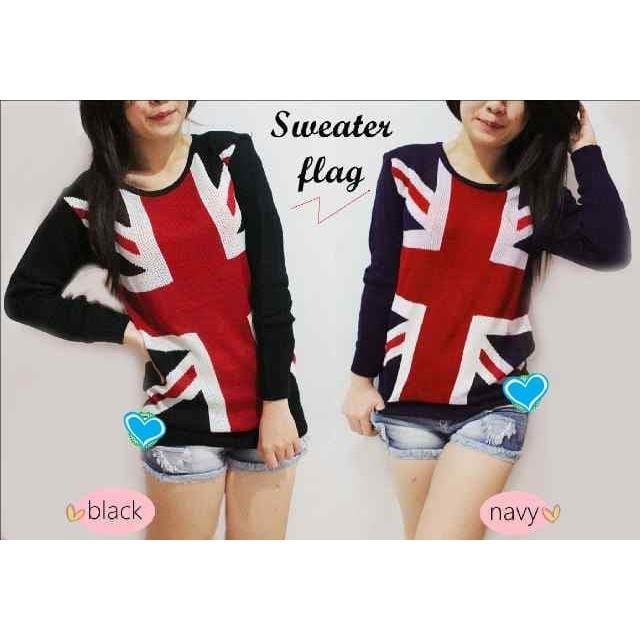 vshopjkt Sweater england Fashionable blouse bagus blus bagus kualitas baik baju wanita atasan wanit