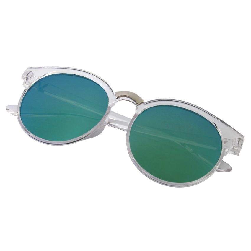 Cat Eye Sunglasses MN5010 clear blue - Kacamata wanita - Mirror - Transparant