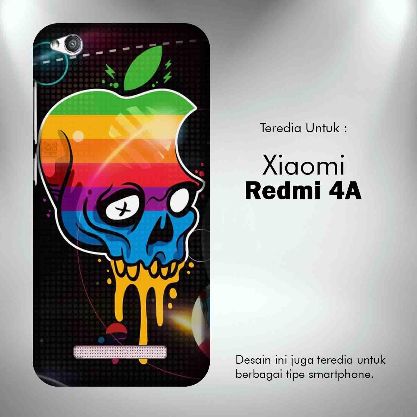 Apple Skull 1 Casing Custom Xiaomi Redmi 4A Case Cover