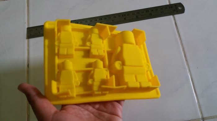 BEST SELLER!!! cetakan coklat puding robot lego - ItC47h