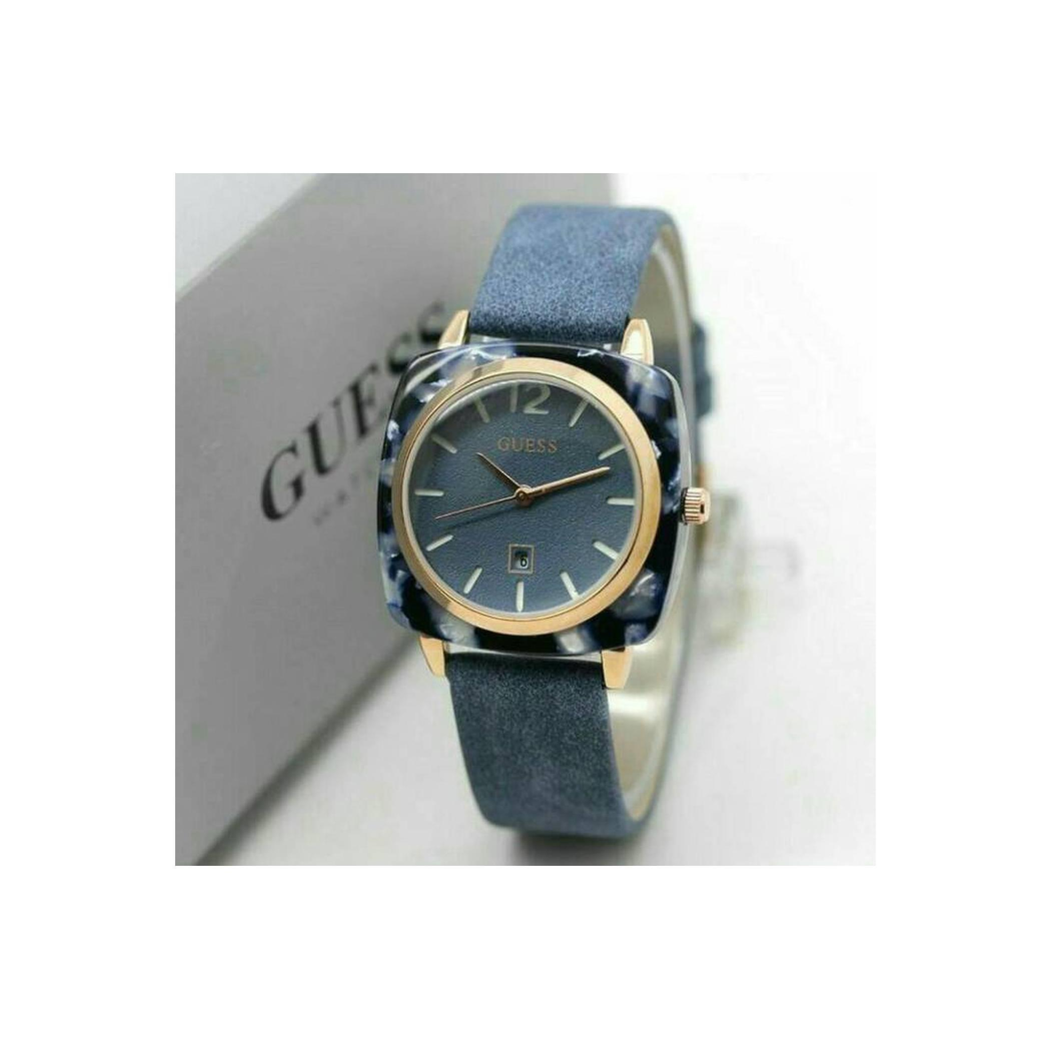 Guess W0149l5 Overdrive Jam Tangan Wanita Navy Blue Rubber Stainless Gc Keramik Bulat Premium2 Cewek Leather