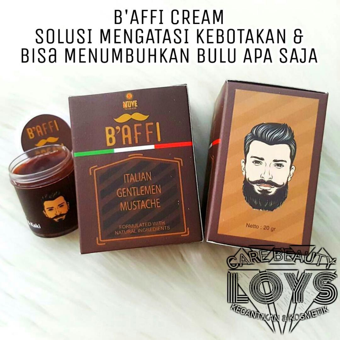 Baffi Cream Italian Krim Penumbuh Bulu Kumis Jenggot Jambang Alis Mata Bulu Dada Bulu Tangan dan