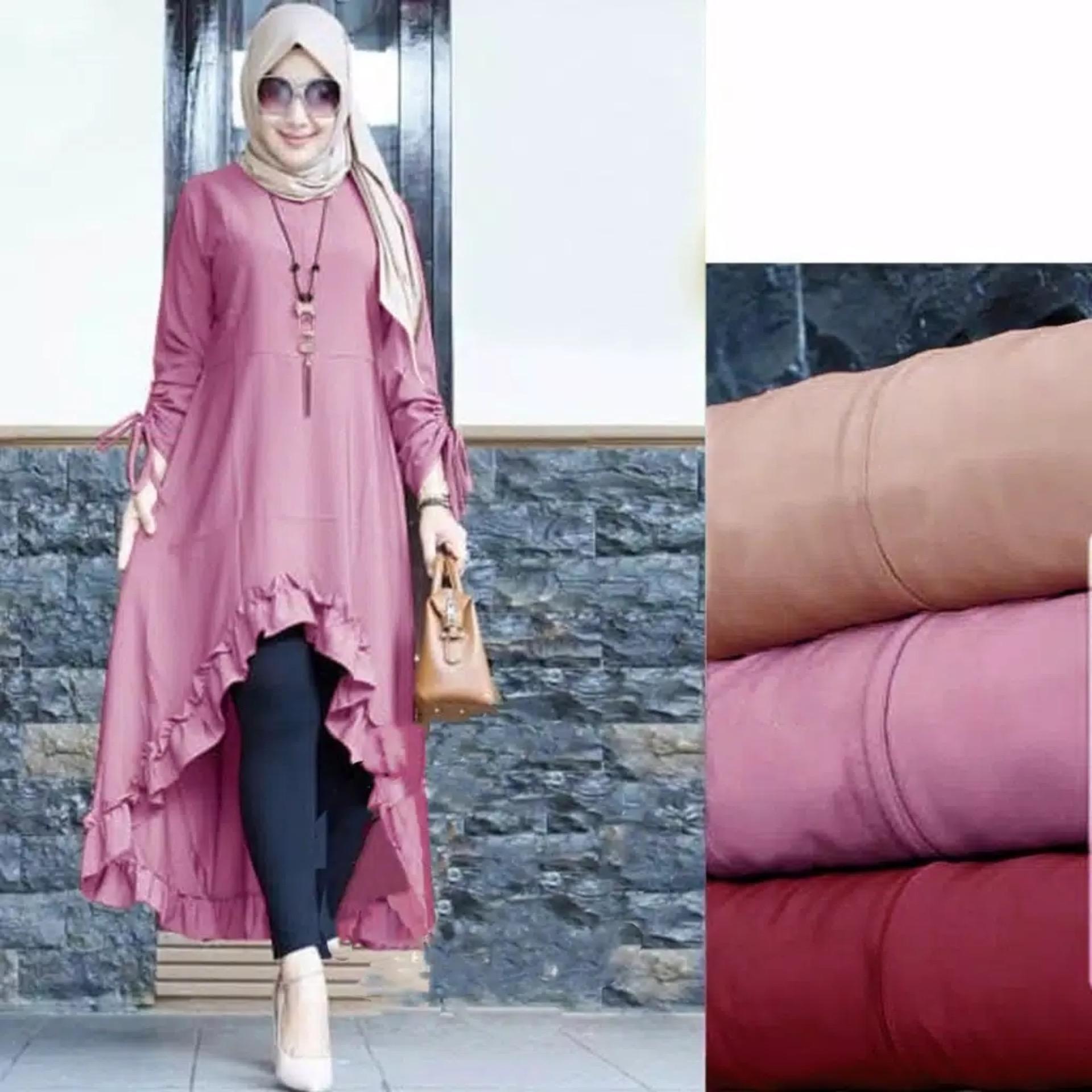 Shoppaholic Shop Tunik Cinta   Pakaian Muslim   Atasan Muslim   Atasan  Wanita Jumbo 88d2fd8964