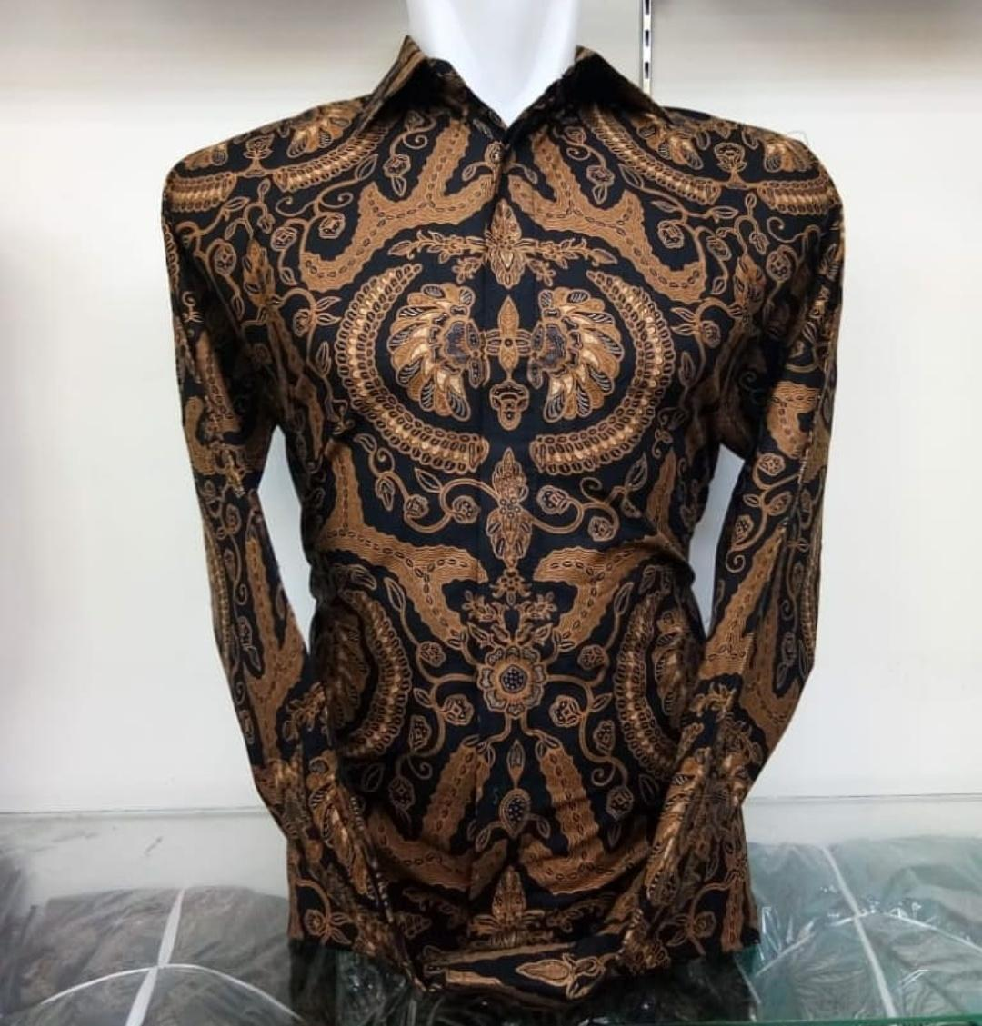 Kemeja batik pria lengan panjang   kemeja batik songket   atasan pria   baju  batik   4b98158276