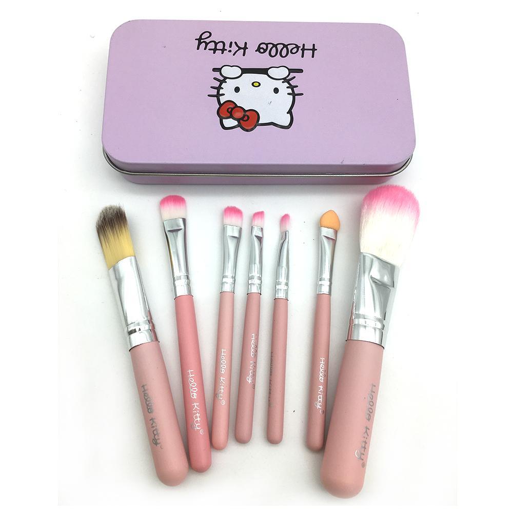 Daftar Harga Jual Kuas Make Up Original Promo Hello Kitty Brush Kaleng Set 7 Pcs Best Seller Atau Isi Bahan Halus
