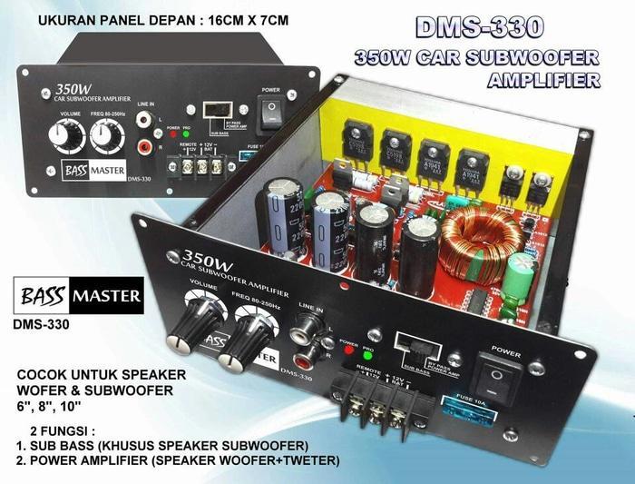 Terpopuler Kit ampli subwoofer mobil 350 watt